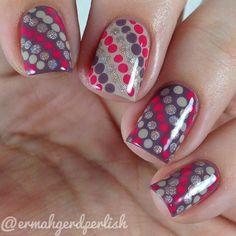 Polka dot nailart #polkadot #nails #nailart