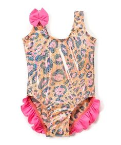 801fd15c9018c Another great find on  zulily! Orange Animal Print Ruffle One-Piece Swimsuit  -