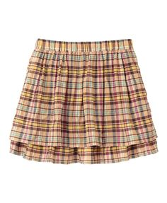 Girls' Madras Check Skirt-UNIQLO