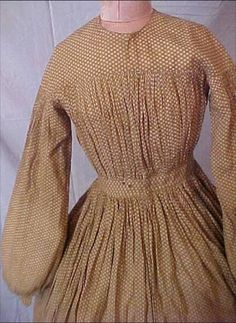 """Infant bodice"" with yoke. Very good option for comfortable working dress for women (despite the name!) from Jenny Jones board Victorian Women, Victorian Fashion, Pioneer Dress, Pioneer Girl, Mode Country, Day Dresses, Dresses For Work, Civil War Fashion, Civil War Dress"