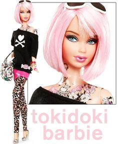 Not sure why people think tattoo barbie is inappropriate.  Regular barbie skews the idea of what real women are.