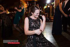 Ciara was jamming hard with her air guitar skills. #wedding #idaho #priestlake #elkinsresort #idahowedding #reception #airguitar #feelingit #sisterofthebride