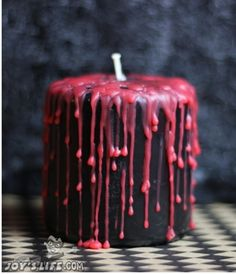 How to Make a Bloody Candle for Halloween