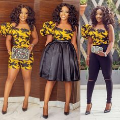 Pick your favourite look Outfit from @houseofnini1 @ayoalasi MUA @makeupbynuvie Hair @hairglamourintl
