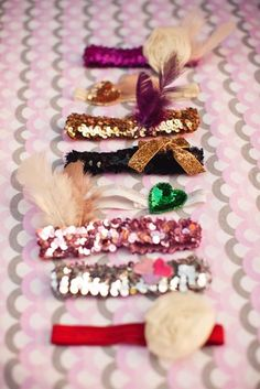 LOVE this idea! Make headbands for a baby girl at the shower!