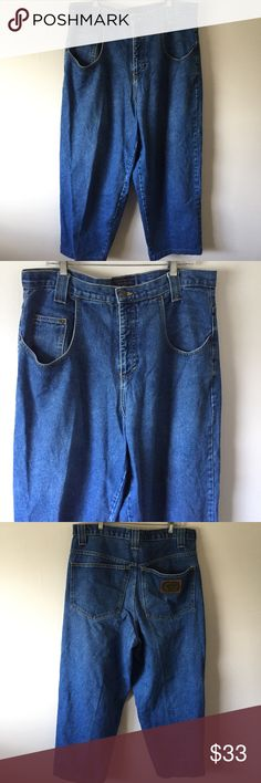 deb6463a Karl Kani Vintage Loose Fit Metal Plate Jeans Vintage 90's hip hop jeans.  Loose fit