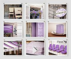 Collection of Paris photos in purple