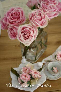 stephanie bradley spanish dahlia pinterest    LOVE my new Pottery Barn roses and potpourri. I'll definately be ...