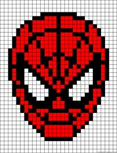 Spiderman perler bead pattern...and intarsia crochet too!