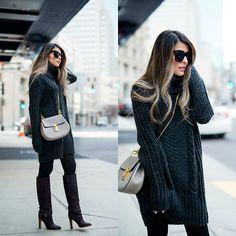 Get this look: http://lb.nu/look/8001882  More looks by Pam Hetlinger: http://lb.nu/pamhetlinger  Items in this look:  Club Monaco Knee High Boots   #chic #street #sweaterdress #hmsweaterdress #kneehighboots #chloedrewbag #chloe #celine