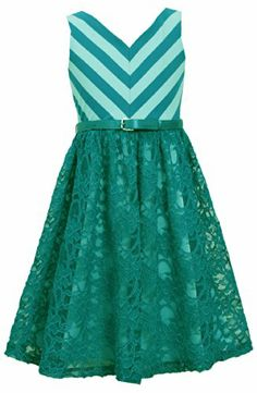 * TWEEN GIRLS 7-16 * Turquoise Belted Chevron Stripe Knit to Lace Overlay Dress TU4MH, Turquoise, Bonnie Jean Tween Girls 7-16 Special Occasion, Flower Girl Social Party Dress Bonnie Jean http://www.amazon.com/dp/B00KP4FG1E/ref=cm_sw_r_pi_dp_orUItb1RXZ3FX43Z
