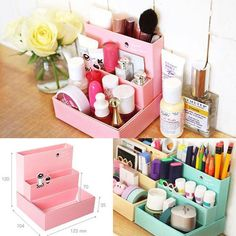 Caddy desk organiser - this would be easy enough to recreate with cardboard and maybe even some fabric