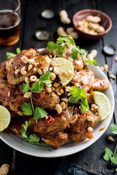 STICKY THAI PEANUT CHICKEN WINGSReally nice recipes. Every  Mein Blog: Alles rund um Genuss & Geschmack  Kochen Backen Braten Vorspeisen Mains & Desserts!