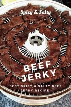 Try this spicy and salty beef jerky recipe! Spicy and Salty Beef Jerky Recipe Deer Jerky Recipe, Homemade Beef Jerky, Making Beef Jerky, Beef Jerky Dehydrator, Food Dehydrator, Jerky Marinade, Jerkey Recipes, Kitchens