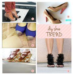 DIY shoe trend