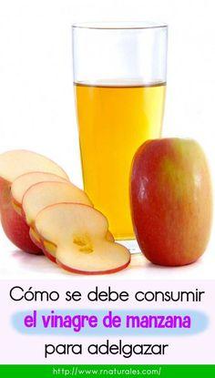 Vinagre de manzana para adelgazar riesgos de una