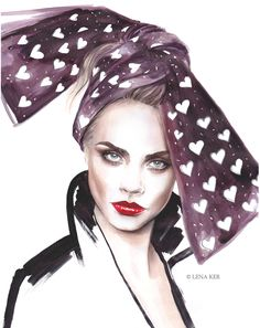Lena Ker, Fashion Illustrator | Purely Inspiration