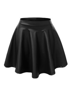 This stretchy flared skater skirt will make heads turn wherever you go. Its stylish flared style will go perfectly with a fitted mesh bodysuit. Add a fur vest for a fashionable finish or keep it simpl