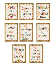 Loving this Spanish Manners Wall Card - Set of Eight on #zulily! #zulilyfinds