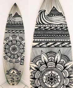 """Here's the completed work @_jesslambert_ of @halcyon_lines was creating on a shape by @simonanderson_surfboards several posts back #simonandersonsurfboards #jesslambert #halcyonlines #surfart #boardart #surfboard"" @boardporn"