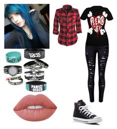"""""""Alex Dorame"""" by dallymdescaper on Polyvore featuring Converse and Lime Crime"""