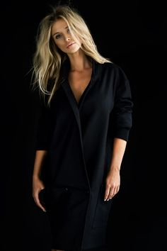 black backdrop with black clothing...simple & elegant