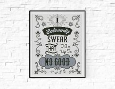 BOGO FREE Solemnly Swear Cross Stitch Pattern Harry Potter