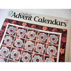 Quilted Advent Calendar Book Wonderful Count Down to Christmas... ($5) ❤ liked on Polyvore featuring home, home decor, holiday decorations, xmas advent calendar, pocket advent calendar, christmas tree advent calendar, christmas home decor and christmas holiday decor