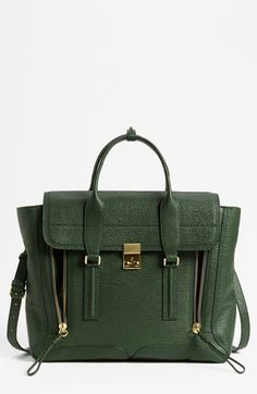 b59dd680bd14 3.1 Phillip Lim  Pashli  Leather Satchel available at  Nordstrom Green  Handbag