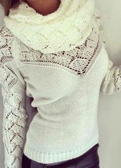 A vendre sur #vintedfrance ! http://www.vinted.fr/mode-femmes/autres-hauts/20059616-pull-en-maille-blanc