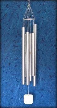 "Large Steeple Silver 57/"" 7ST  SHIPS FREE GRACE NOTE WIND CHIMES SALE!"