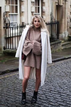 Camel Knits & Bare Legs