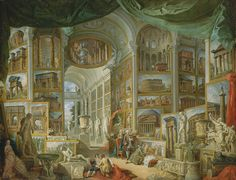 Ancient Rome, 1757 Giovanni Paolo Panini (Italian, Roman, 1691–1765) Oil on canvas; 67 3/4 x 90 1/2 in. (172.1 x 229.9 cm)