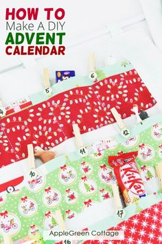 Get your own diy advent calendar started! See the easy way to cut fabric to make your own advent calendar from yardage. Sew a beautiful reusable advent calendar for your unique christmas countdown celebration. this free sewing pattern for advent calendar is easy to sew and always turns out beautiful. Check it out now and start your Christmas sewing today! Christmas Stocking Pattern, Christmas Sewing, Diy Christmas Gifts, Christmas Decorations, Potholder Patterns, Easy Sewing Patterns, Diy Gifts For Kids, Craft Gifts, Reusable Advent Calendar