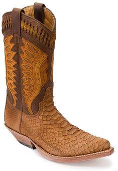 #Stiefel Sendra Boots 3588 - hellbraun Boa Schlangenleder Exotic Boots http://www.sancho-store.ch/de/herren-stiefel/sendra-boots-carlito-boa-westernstiefel-3588.html