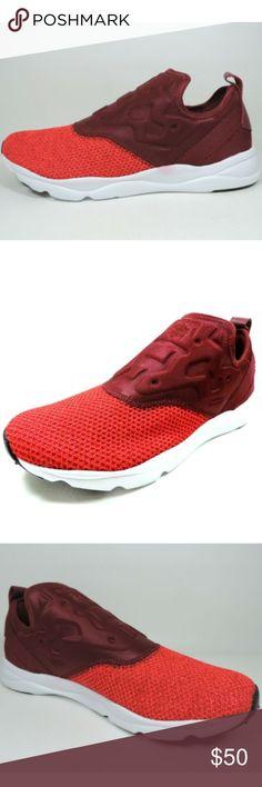REEBOK FURYLITE LUX Ortho Slip On Black White Slip On Shoes