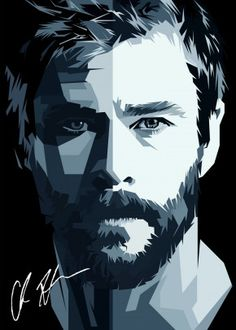 Great Chris Hemsworth poster by from collection. Famous Portraits, Pop Art Portraits, Pop Art Posters, Poster Prints, Captain America Sketch, Black Panther Art, Chris Hemsworth Thor, Easy Cartoon Drawings, Disney Posters