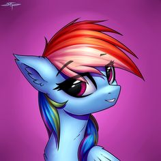 MLP: Rainbow Dash Portrait