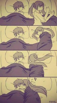 Couple Amour Anime, Couple Anime Manga, Anime Couple Kiss, Manga Anime, Anime Art, Anime Girls, Cute Couple Comics, Couples Comics, Couple Cartoon