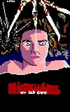 Scary Movies, Horror Movies, Robert Englund, Nightmare On Elm Street, Freddy Krueger, Halloween Horror, Pixel Art, Alice, Movie Posters