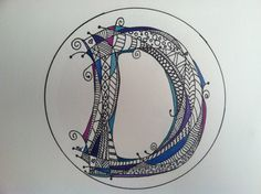 Looking for a personalized gift for someone special?  Each letter is unique and created just for you!  Designs are hand drawn with an ultra fine