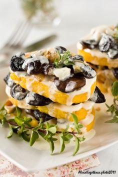 Fried Polenta With Mushroom & Gorgonzola Sauce