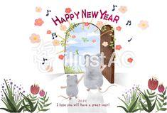 新年の扉年賀状 Hope You, Happy New Year, Happy New Years Eve