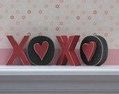 XOXO BLOCKS for valentines and home decor. $10.50, via Etsy.