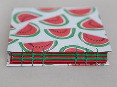 Watermelon Coptic Bound Sketchbook / Journal / by TheEloiseBindery