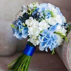 Prom Flowers, Blue Wedding Flowers, Bridal Flowers, Flower Bouquet Wedding, Wedding Colors, Blue Wedding Bouquets, Bride Bouquets, Bridesmaid Bouquet, Baby Blue Weddings