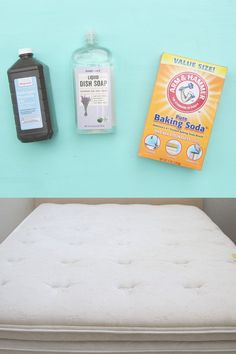 How to Clean Mattress Stains Minute Magic Green Cleaning!) - A Piece Of Rainbow Deep Cleaning Tips, Green Cleaning, House Cleaning Tips, Cleaning Solutions, Spring Cleaning, Cleaning Hacks, Cleaning Closet, Cleaning Supplies, Clean Mattress Stains