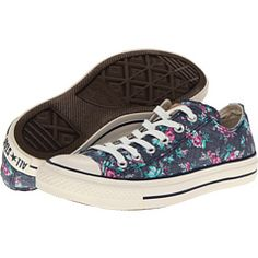 converse chuck taylor all star floral print ox w