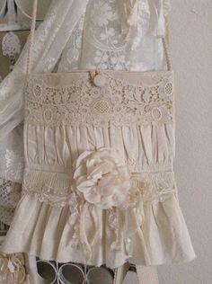Shabby Vintage Lace Purse / Bag