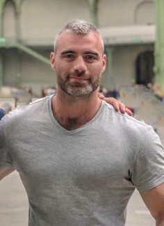 Handsome bearded man #Handsome #HandsomeMen #HandsomeMan #Beard #Hairy #HairyChest #Muscular #Fit #Gray #GrayHair